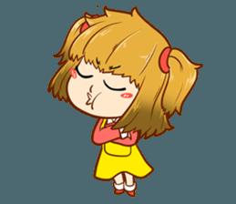 A ponytail little girl 2 + sticker #12218107