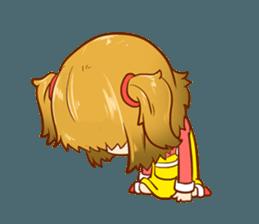 A ponytail little girl 2 + sticker #12218108