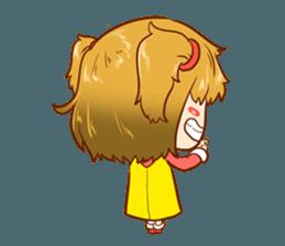 A ponytail little girl 2 + sticker #12218109