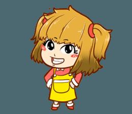 A ponytail little girl 2 + sticker #12218110