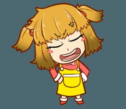 A ponytail little girl 2 + sticker #12218111