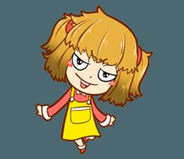 A ponytail little girl 2 + sticker #12218112