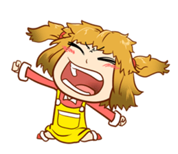 A ponytail little girl 2 + sticker #12218114