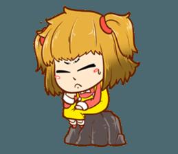 A ponytail little girl 2 + sticker #12218115