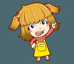 A ponytail little girl 2 + sticker #12218116