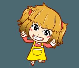 A ponytail little girl 2 + sticker #12218117