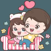 สติ๊กเกอร์ไลน์ ลีเน่ & เจยอง รักและห่วงใย