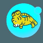 สติ๊กเกอร์ไลน์ Animated! Tiger cub