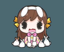 Melon rabbit need some one (DukDik) + sticker #12223761
