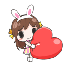 Melon rabbit need some one (DukDik) + sticker #12223763