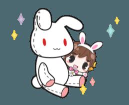 Melon rabbit need some one (DukDik) + sticker #12223767