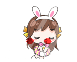 Melon rabbit need some one (DukDik) + sticker #12223770