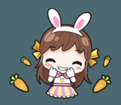 Melon rabbit need some one (DukDik) + sticker #12223773