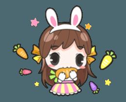 Melon rabbit need some one (DukDik) + sticker #12223777