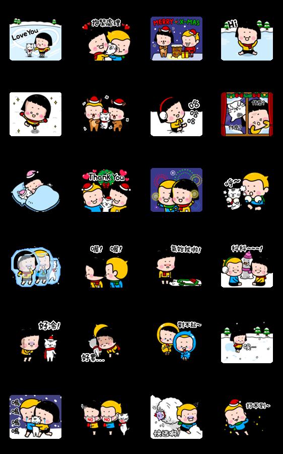 สติ๊กเกอร์ไลน์ MiM's Heart-Stopping Winter Stickers