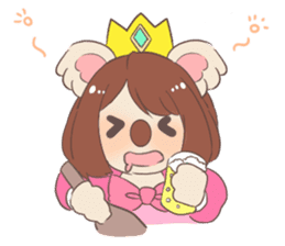 Koala Princess sticker #12248940