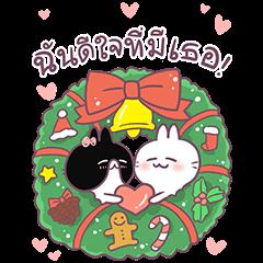 สติ๊กเกอร์ไลน์ [BIG] Cute Rabbit Year-End Stickers