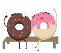 Donat unyu sticker #12254233