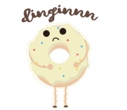 Donat unyu sticker #12254243
