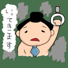 kawaii sumo wrestler sticker sticker #12254841