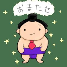 kawaii sumo wrestler sticker sticker #12254842