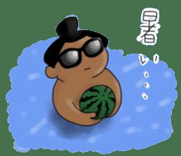kawaii sumo wrestler sticker sticker #12254851