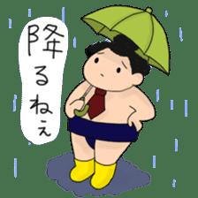 kawaii sumo wrestler sticker sticker #12254853