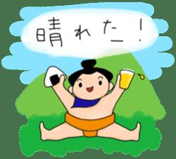 kawaii sumo wrestler sticker sticker #12254854