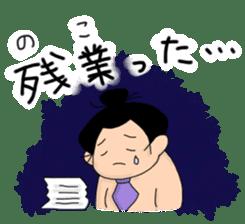 kawaii sumo wrestler sticker sticker #12254856