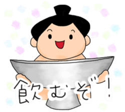 kawaii sumo wrestler sticker sticker #12254860