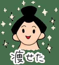 kawaii sumo wrestler sticker sticker #12254872