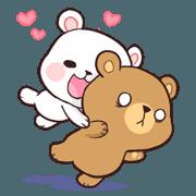 สติ๊กเกอร์ไลน์ Bear Couple : Milk & Mocha