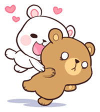 Bear Couple : Milk & Mocha sticker #12265816