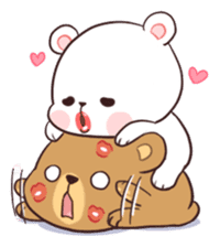 Bear Couple : Milk & Mocha sticker #12265818