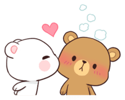 Bear Couple : Milk & Mocha sticker #12265820