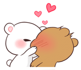 Bear Couple : Milk & Mocha sticker #12265821
