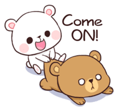 Bear Couple : Milk & Mocha sticker #12265824