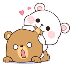 Bear Couple : Milk & Mocha sticker #12265825