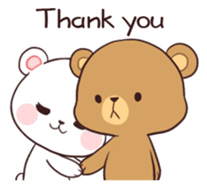 Bear Couple : Milk & Mocha sticker #12265830