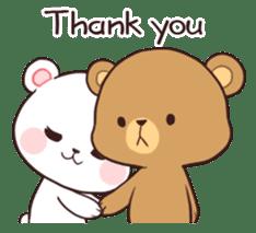 Bear Couple : Milk & Mocha sticker #12265830