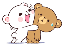 Bear Couple : Milk & Mocha sticker #12265831
