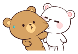 Bear Couple : Milk & Mocha sticker #12265835