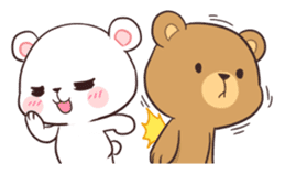 Bear Couple : Milk & Mocha sticker #12265836