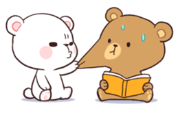 Bear Couple : Milk & Mocha sticker #12265840