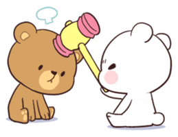 Bear Couple : Milk & Mocha sticker #12265842