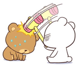 Bear Couple : Milk & Mocha sticker #12265843