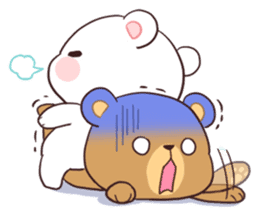 Bear Couple : Milk & Mocha sticker #12265844