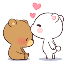 Bear Couple : Milk & Mocha sticker #12265851