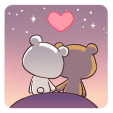 Bear Couple : Milk & Mocha sticker #12265853