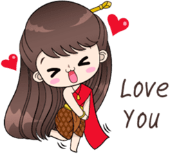 Boobib Retro Girl sticker #12266678